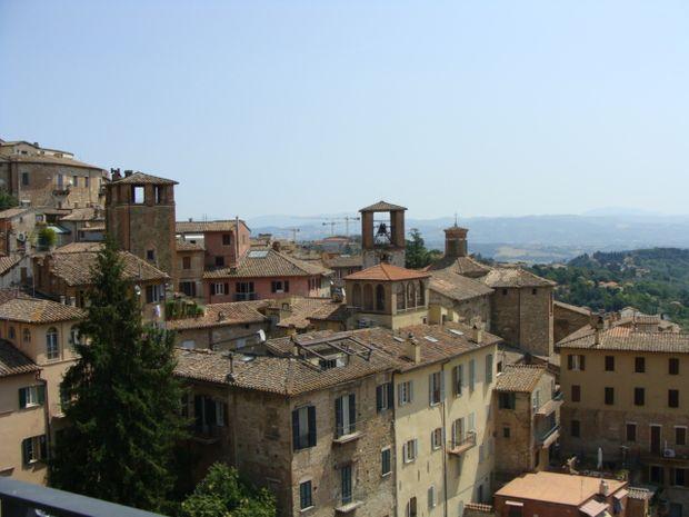 Perugia widok na miasto