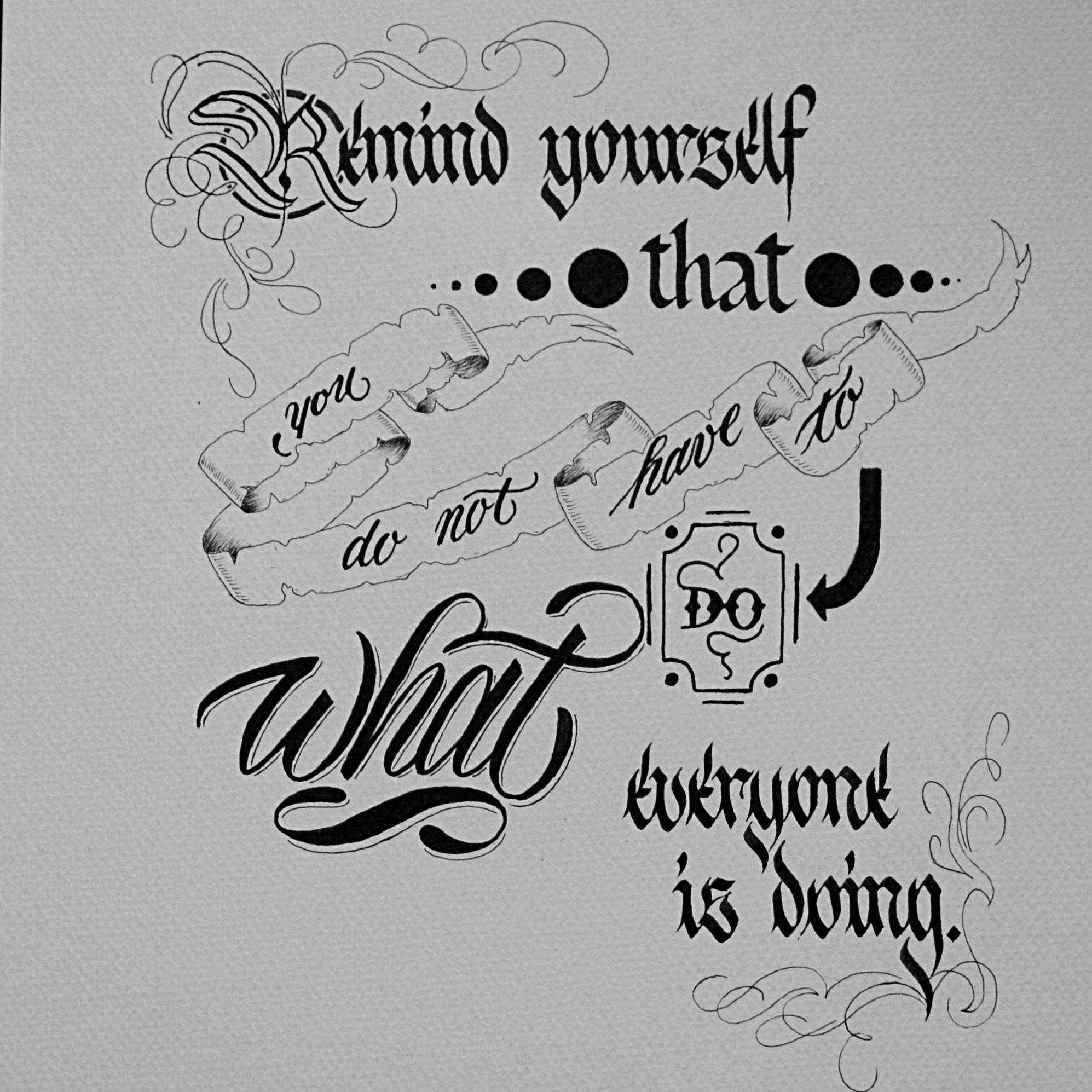 kaligrafia w stylu vintage